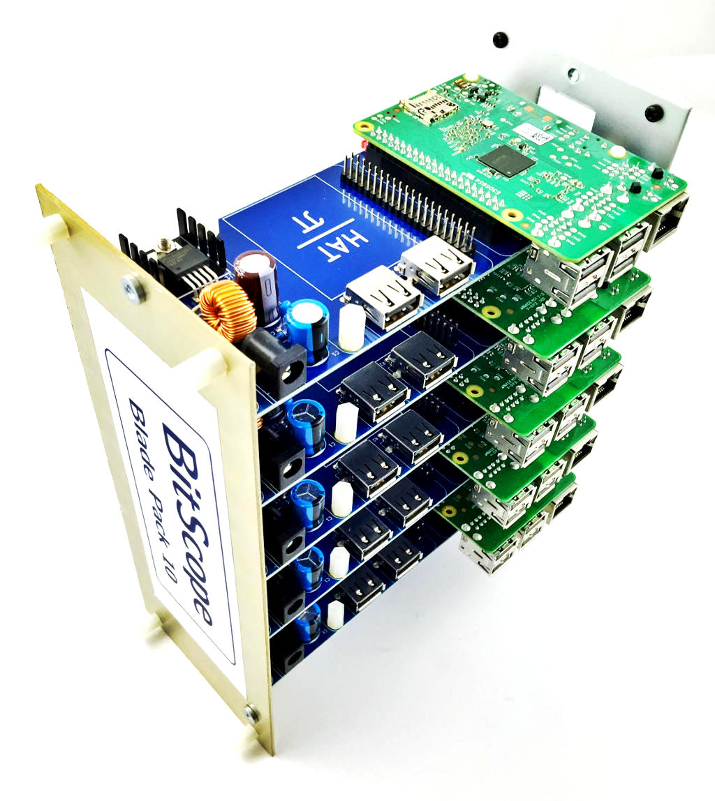 BitScope Blade Pack 10 Uno Pi Physical Compute Cluster