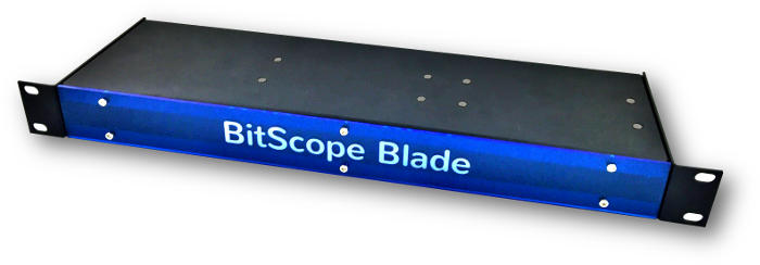BitScope Blade Server, Power & Mounting for 4 Raspberry Pi (Raspberry Pi not included).
