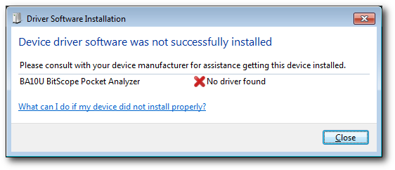 USB Driver for Windows