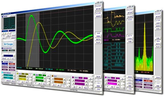 Digital Oscilloscope Software : Bitscope dso the premier software application for