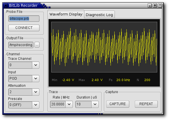 BitLib Transient Recorder Application