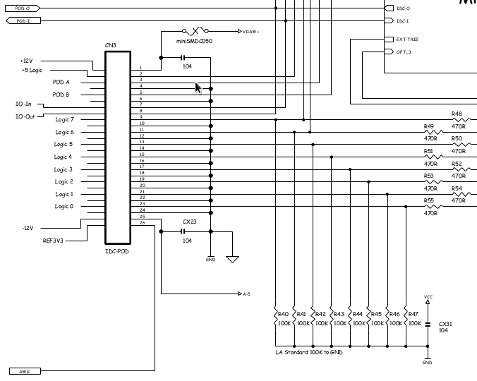 BitScope Smart Port Interface Schematic.