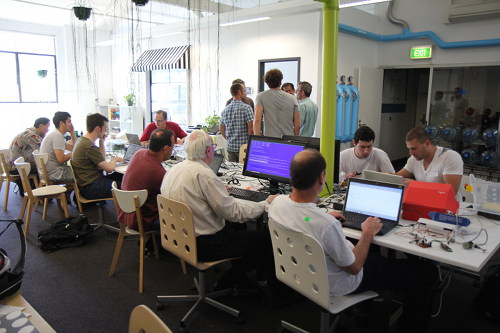 Makers at a recent OzberryPi Meetup