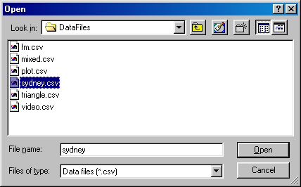 Offline Replay File Selection Dialog